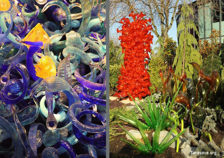 Чихули использует интенсивно-яркие цвета и линии для оживления своих работ