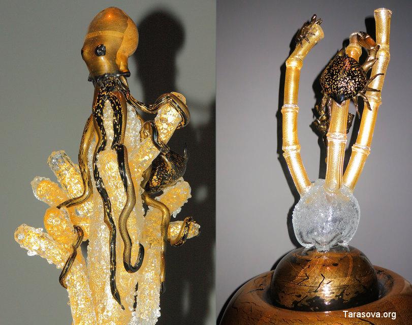 Скульптуры морских обитателей в «Комнате морской жизни»